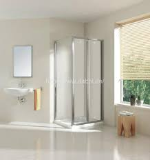 clear glass folding door for shower room 1