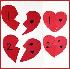 Valentine Math Activity - Broken Heart Numbers