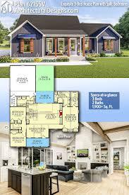 Spec Home Designs Plan 62155v Exquisite 3 Bed House Plan With Split Bedrooms