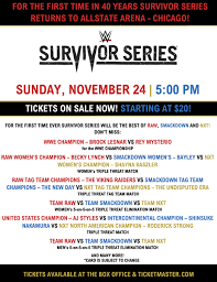Ticketmaster Allstate Arena Seating Chart Wwe Survivor Series Allstate Events Events Allstate Arena