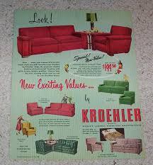 Kroehler Bedroom Furniture 1950 Page Kroehler Furniture Jacquard Frieze Sofa Kelvinator