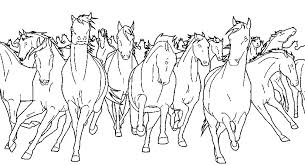 Art Therapy Coloring Page Horses Wild Horses 10