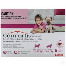 comfortis flea treatment for dogs u0026 cats 2345kg 6pk comfortis dogs k62