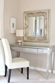 Silver Bedroom Chair Diy Silver Leaf Vanity Made From An Old Thrift Store Desk Love