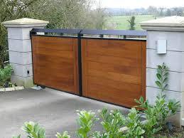 gorgeous modern wood gate beautiful wrought ironwork domestic gates belfast gates gallery