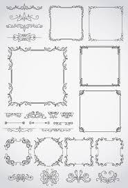 飾り罫線フレーム枠 ベクターイラスト素材 手帳 フレーム枠
