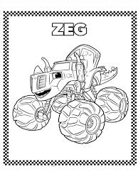 Blaze And The Monster Machines Coloring Pages 10 Kids