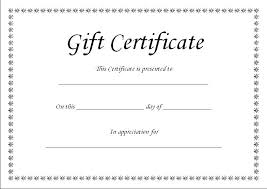 Create Your Own Voucher Template Endearing Gift Certificate