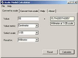 Scale Ruler Conversion Chart Scale Calculator