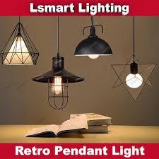 led pendant light ceiling dining light hanging light retro metal lamp filament