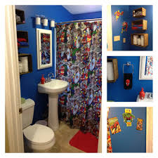 Sports Bathroom Accessories Avengers Shower Curtain Bathroom Decor Iron Man Thor Hulk