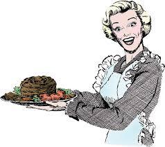 roast beef dinner clip art. Beautiful Art Vintage 1950s Woman Serving Dinner Vector Art Illustration And Roast Beef Clip Art