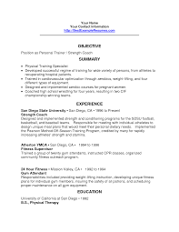 Ideas Of Personal Trainers Resume Also Fitness Trainer Sample