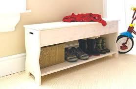 narrow storage bench hallway bedroom e64