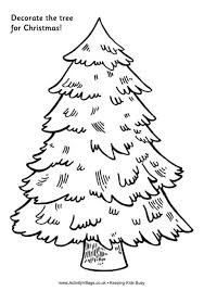 christmas tree drawing outline. Simple Christmas Decorate The Tree For Christmas  Printable Drawing Outline T