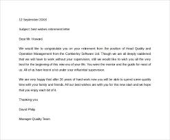 Retirement Letter Retirement Letter 20 Download Free Documents In Pdf Word