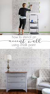 diy stencil ideas stencil an accent wall cool and easy stenciling tutorials for making
