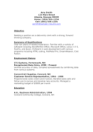Impressive Data Entry Clerk Resume Sample Displaying Nice Objective And  Employment History