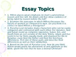 how to write papers about paradise lost essay questions paradise lost essay questions