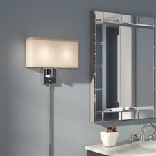 plug in wall sconce. Puccio 2-Light Plug-In Armed Sconce Plug In Wall W