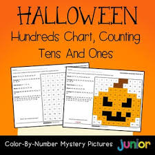 Color By Number Hundreds Chart Color By Number Hundreds Chart Halloween Mystery Picture Worksheets