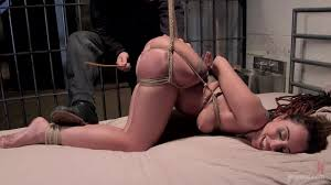 Tied down ass fingering
