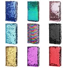 A5 Size Notebooks & Binders Multi-color <b>Fish Scale Sequin</b> ...