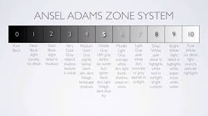 Ansel Adams Zone System Chart Each Of The 10 Zones Described In Detail This Is The