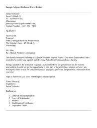 Adjunct Professor Cover Letter Photos Hd Goofyrooster