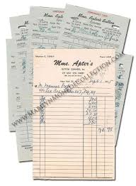 Personal Invoices Marilyn Monroes Invoices And Receipts