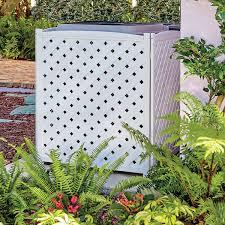 Lattice Air Conditioner Screen Wooden Lattice Air Conditioner Screen So Thats Cool
