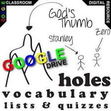 holes voary for the plete novel stus 90 words from the text using digital resources
