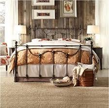 Amazon.com: Bellwood Dark Bronze Victorian Iron Metal Bed - Queen ...