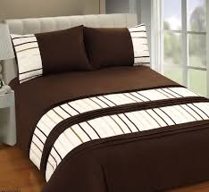 brown and cream duvet covers