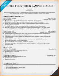 Front Desk Medical Receptionist Sample Resume Beauteous Hotel Front Desk Resume Sample Kenicandlecomfortzone