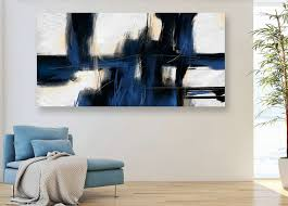 handmade large abstract painting on canvas