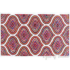 multicolor chindi braided colorful woven accent area rug carpet 3 x 5 ft