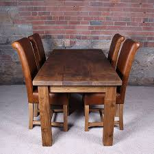 kitchen rustic wood kitchen table shocking classic solid wood dining table with chairs used leather pic