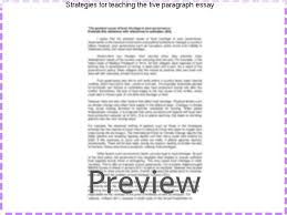 strategies for teaching the five paragraph essay custom paper  strategies for teaching the five paragraph essay for example a five paragraph argumentative essay