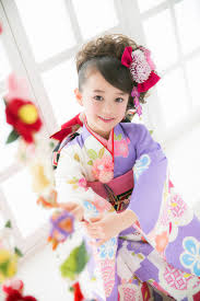 Kimono Cute Kids 七五三 スタジオ七五三 ヘアスタイル 女の子