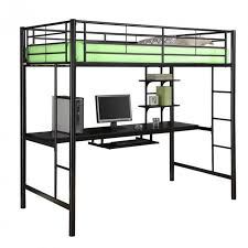 another metal framed bed this piece consists of tubular black metal construction with a