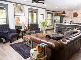 Brown And Turquoise Living Room Impressive Fixer Upper's Best Living Room Designs And Ideas HGTV's Fixer