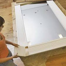 Test the fit   How to Make a New Mirror with Old Door Trim   This