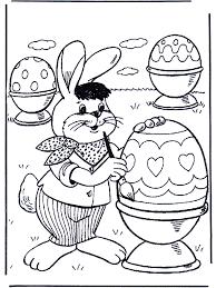 Paashaas Schildert Eieren Kleurplaten Pasen
