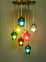 lighting design ideas colored glass pendant lights impressive colored elegant pendant designing inspiration mozaic design