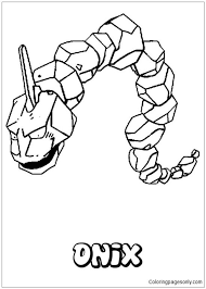 Pokemon Onix Coloring Page Pokemon Coloring Pages Pokemon