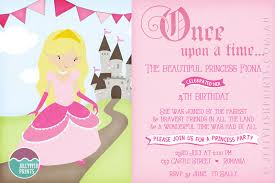 Birthday Party Invitation Princess Birthday Party Invitations Printable Invites