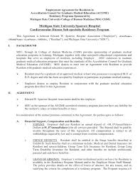 Physician Employment Agreement Basic Contract Template - Cu H104270 ...