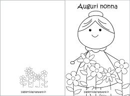 Biglietto Di Auguri Di Compleanno Per La Nonna Da Colorare Lacurt