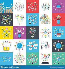 Infographics Flat Illustrations Pack Stock Illustration